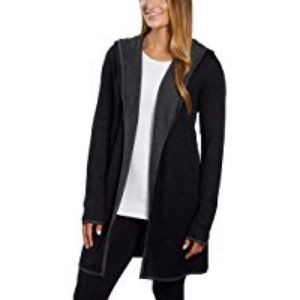BNCI by Blanc Noir XL hooded black charcoal trim